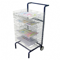 30 Shelf Mobile Art Drying Rack